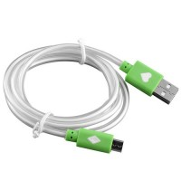 Кабел  Micro USB - Type B Светещ