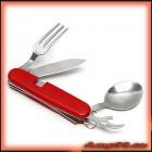 Туристически Сгъваем Нож С Прибори 5в1